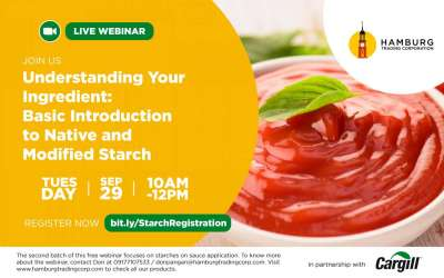 FREE WEBINAR: Basic Introduction to Native and Modified Starch (Batch 2)
